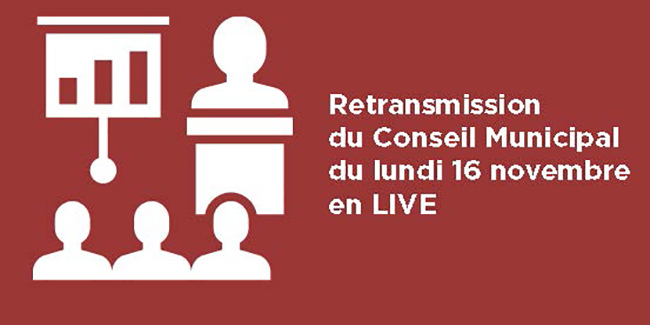 Retransmission du conseil municipal en live