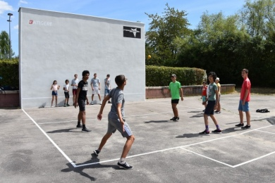 Séance d'initiation au frontball